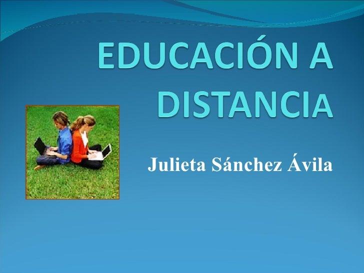 Julieta Sánchez Ávila