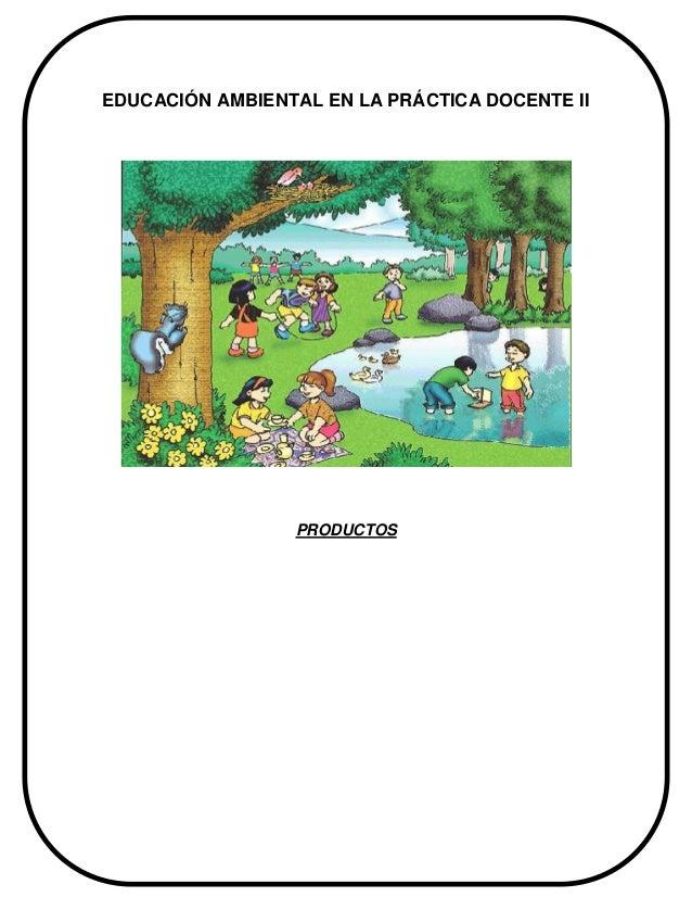 EDUCACIÓN AMBIENTAL EN LA PRÁCTICA DOCENTE II PRODUCTOS