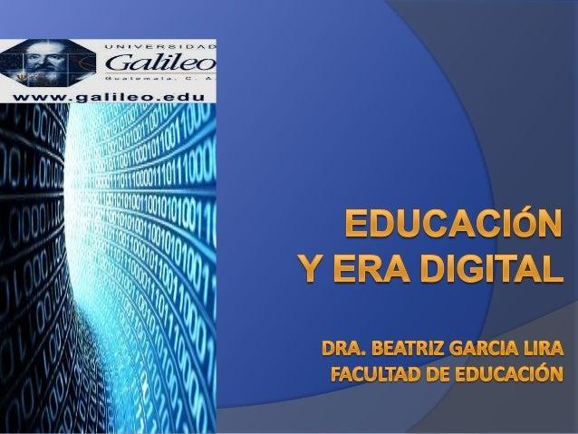 La materia prima de la nueva educación es el bit por segundo, la cantidad de información por unidad de tiempo. La educació...