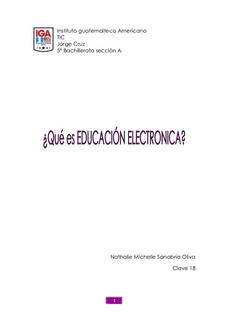 234363972Instituto guatemalteco Americano<br />TIC<br />Jorge Cruz<br />5ª Bachillerato sección A<br />Nathalie Michelle S...