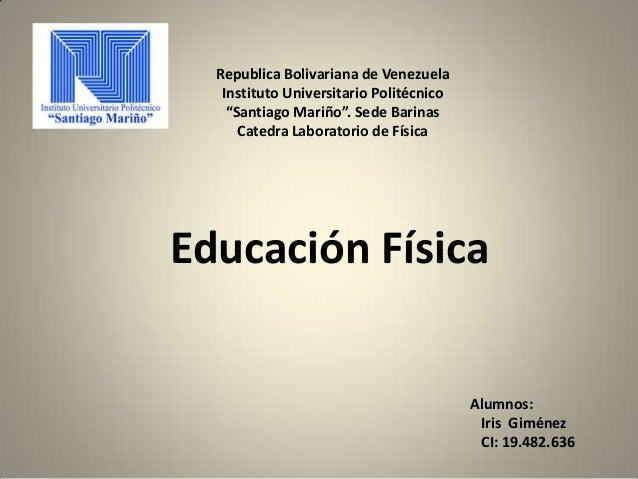 "Republica Bolivariana de VenezuelaInstituto Universitario Politécnico""Santiago Mariño"". Sede BarinasCatedra Laboratorio de..."