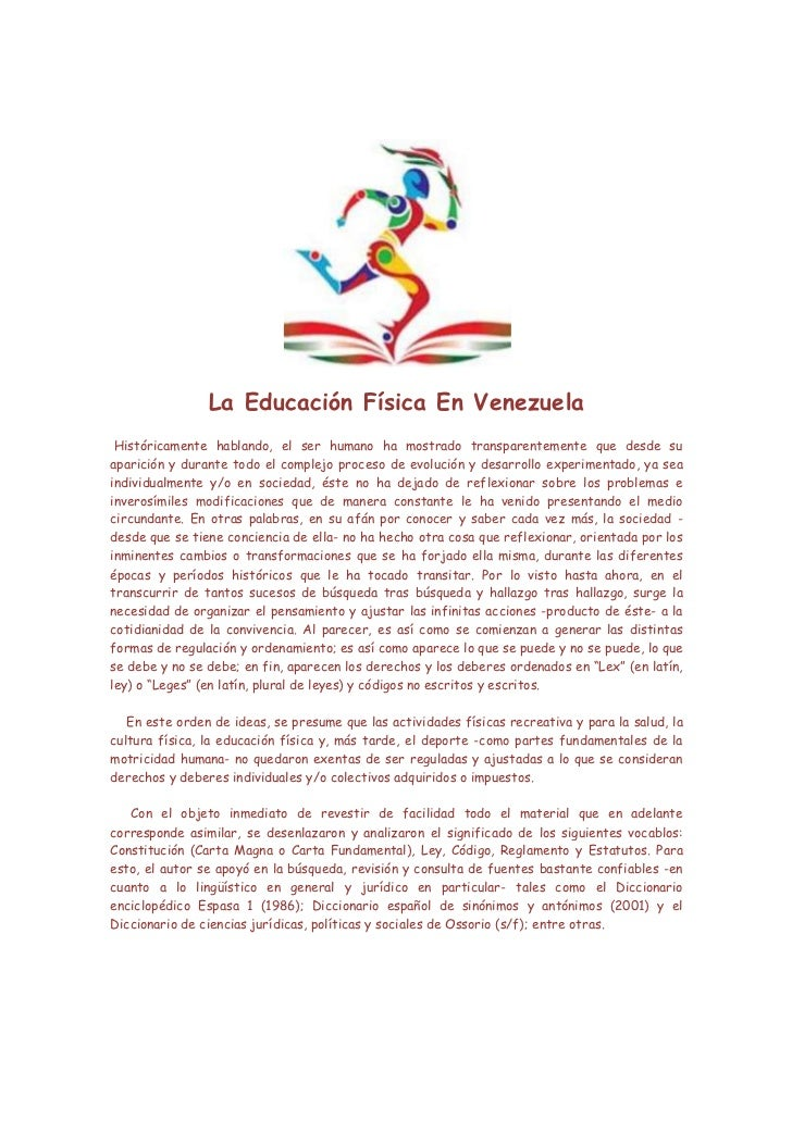 La Educación Física En Venezuela Históricamente hablando bb8c7580180b8