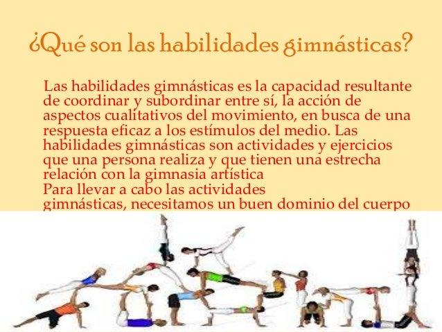 Habilidades gimn sticas for Definicion de gimnasia