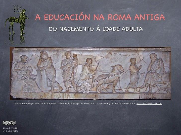 A EDUCACIÓN NA ROMA ANTIGA                                                DO NACEMENTO Á IDADE ADULTA                  Rom...