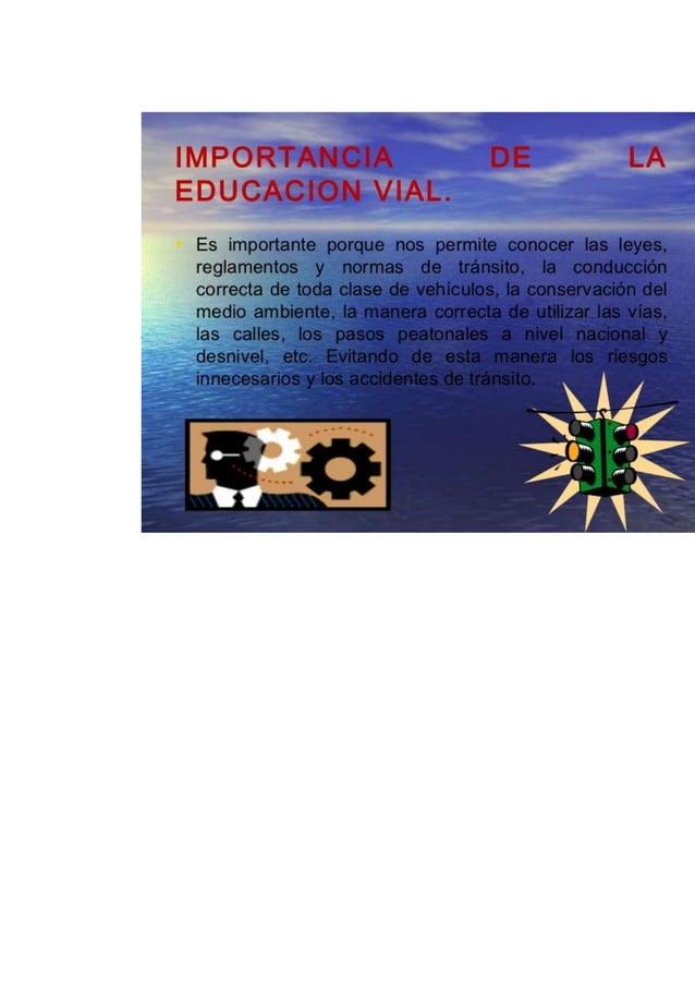 Educacion vial..