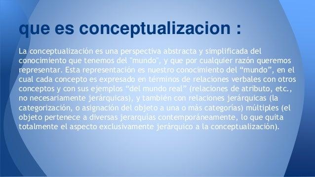Educacion y conceptualizacion for Conceptualizacion de la arquitectura