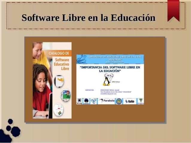 Software Libre en la EducaciónSoftware Libre en la Educación