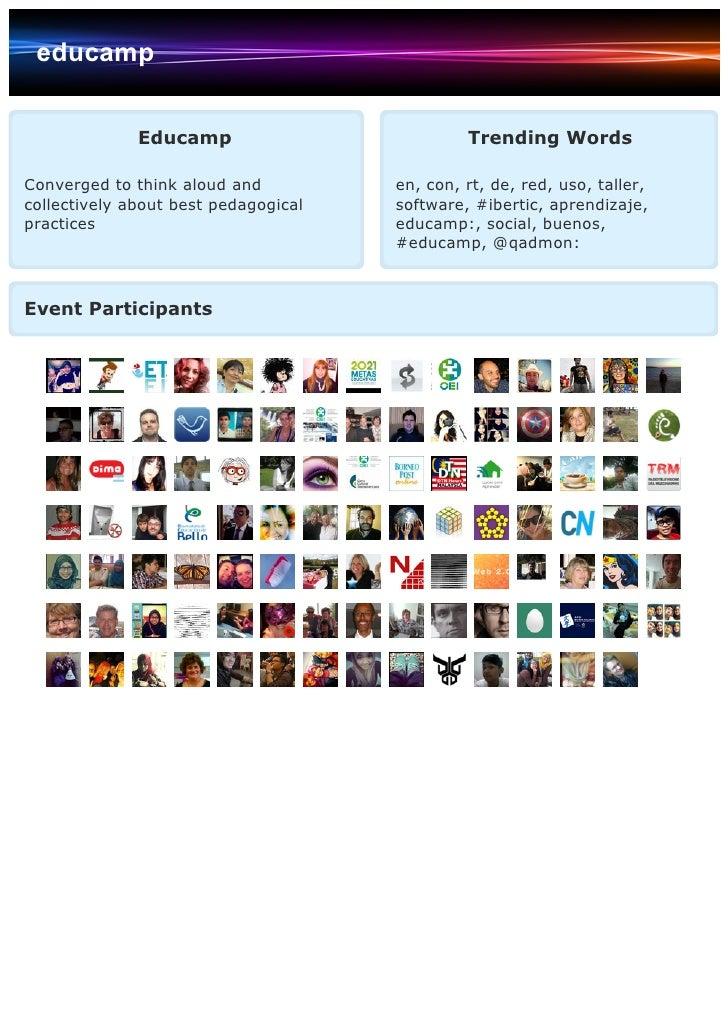 educamp              Educamp                          Trending WordsConverged to think aloud and          en, con, rt, de,...