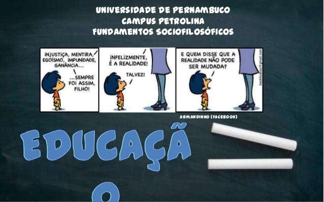 Universidade de Pernambuco Campus Petrolina Fundamentos Sociofilosóficos Armandinho (Facebook)