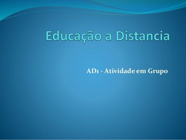 AD1 - Atividade em Grupo