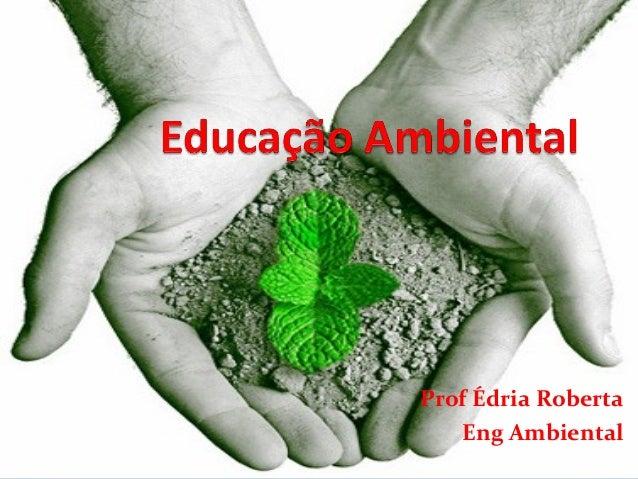 Prof Édria Roberta Eng Ambiental