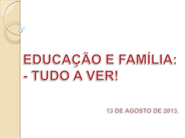 Educação e familia