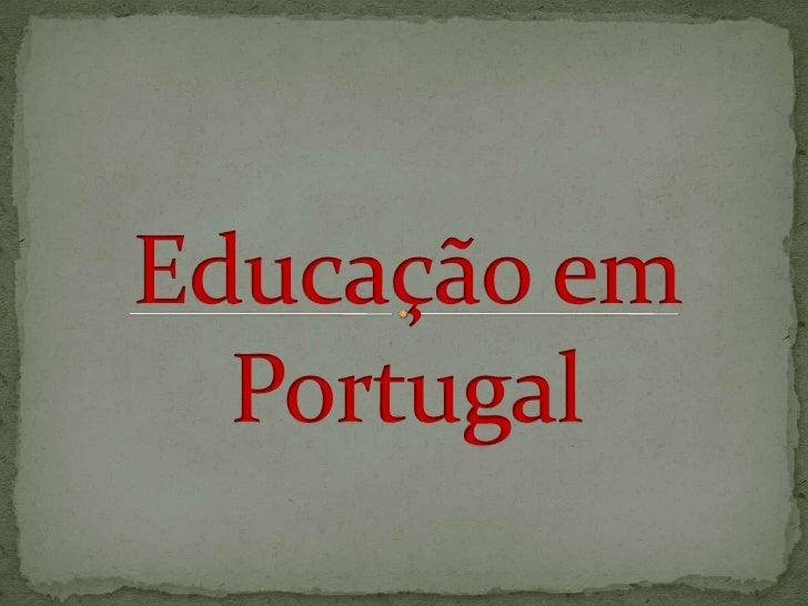 Educação em Portugal<br />