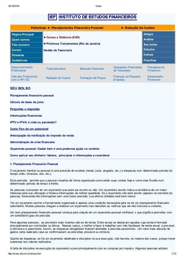 18/12/2014 bolso http://www.ief.com.br/bolso.htm 1/13   Palestras:►PlanejamentoFinanceiroPessoal...