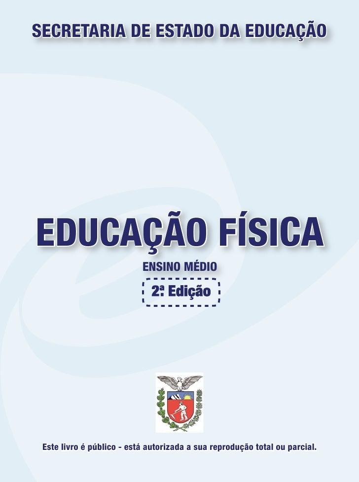 Livro didático público de educação física ÓTIMO LIVRO DE