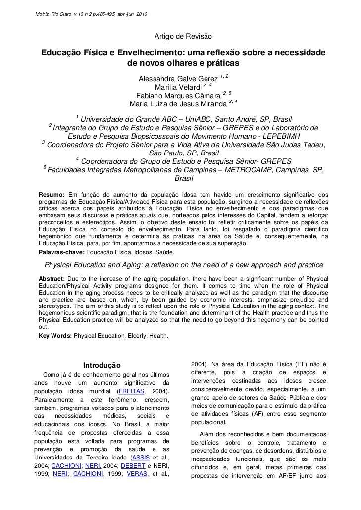 Motriz, Rio Claro, v.16 n.2 p.485-495, abr./jun. 2010                                                        Artigo de Rev...