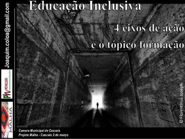 Joaquim.coloa@gmail.com Camara Municipal de Cascais Projeto Malha - Cascais 2 de março ©FlorentinusJoseph