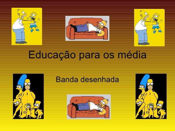 Educação para os média Banda desenhada