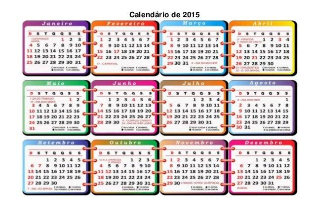 Calendário de 2015