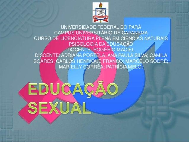 UNIVERSIDADE FEDERAL DO PARÁ CAMPUS UNIVERSITÁRIO DE CAPANEMA CURSO DE LICENCIATURA PLENA EM CIÊNCIAS NATURAIS PSICOLOGIA ...