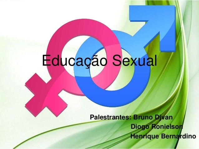 Educação Sexual Palestrantes: Bruno Djvan Diogo Ronielson Henrique Bernardino