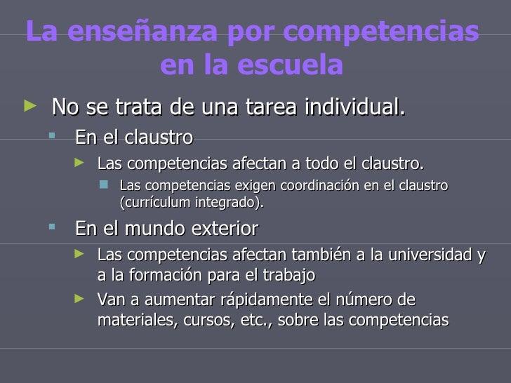 Educar por competencias for Educar en el exterior