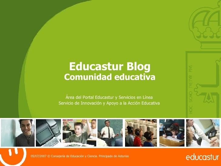Educastur Blog Comunidad educativa Área del Portal Educastur y Servicios en Línea Servicio de Innovación y Apoyo a la Acci...