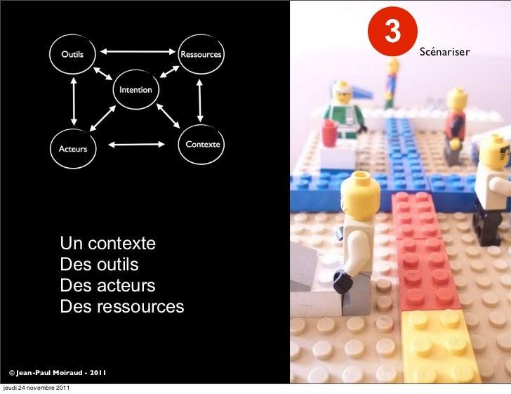 3   Scénariser                  Un contexte                  Des outils                  Des acteurs                  Des ...