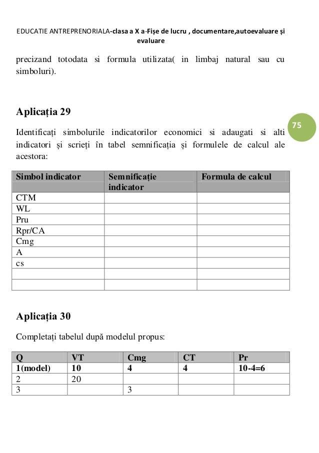 Completati tabelul dupa modelul dating