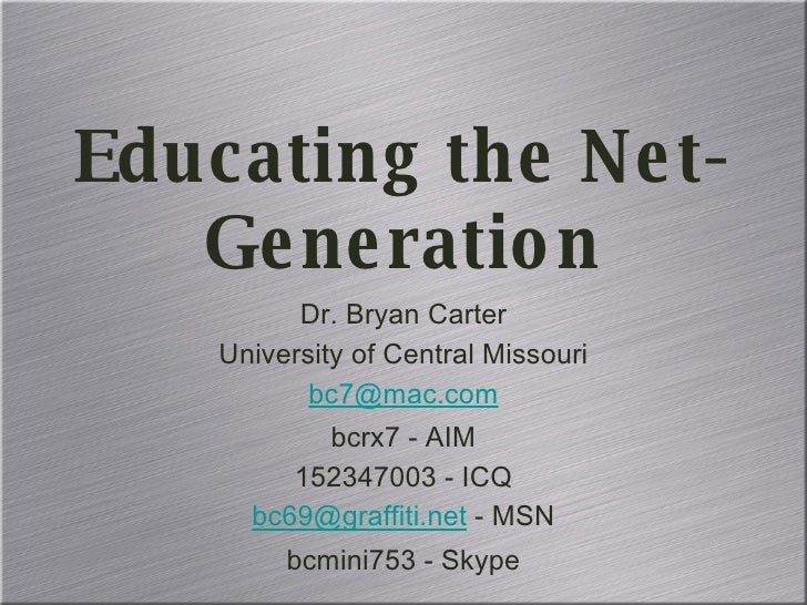 <ul><li>Dr. Bryan Carter </li></ul><ul><li>University of Central Missouri </li></ul><ul><li>[email_address] </li></ul><ul>...