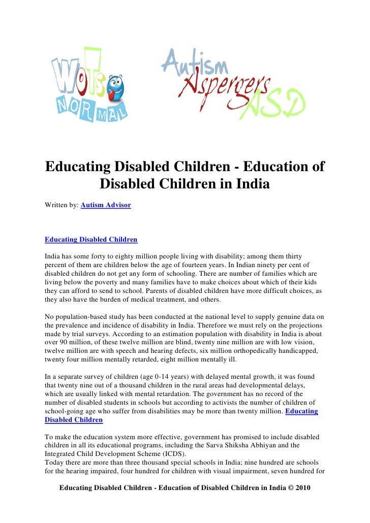 education of disabled children In 2014–15, the number of children and youth ages 3–21 receiving special education services was 66 million, or 13 percent of all public school students among children and youth receiving.
