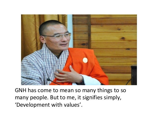 Educating for Gross National Happiness