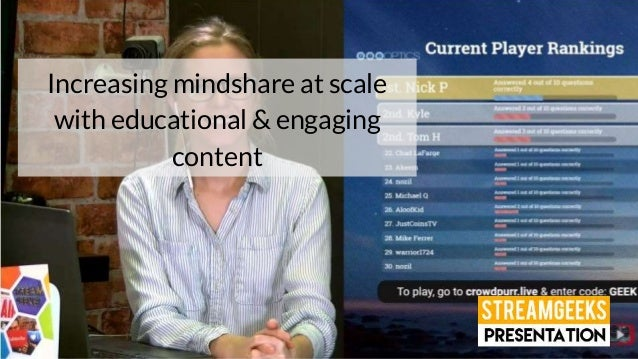 Increasing mindshare at scale with educational & engaging content