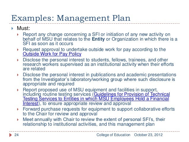 Responsible conduct of research rcr conflict of interest coi examples management plan pronofoot35fo Images