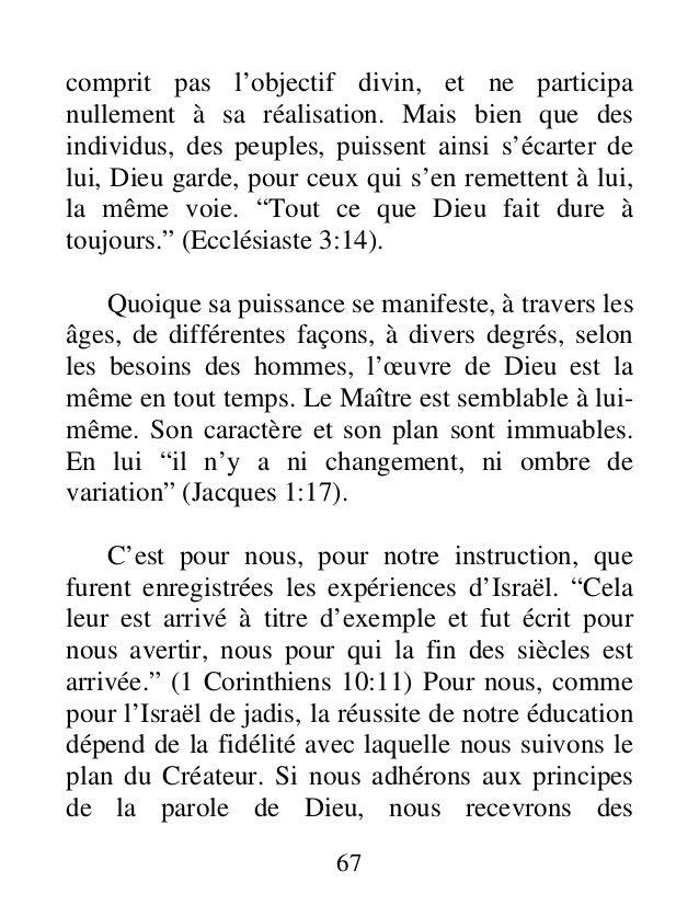 comprit pas l'objectif divin, et ne participa nullement à sa réalisation. Mais bien que des individus, des peuples, puisse...