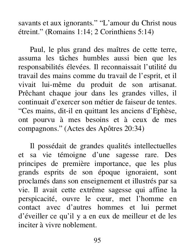 """savants et aux ignorants."""" """"L'amour du Christ nous étreint."""" (Romains 1:14; 2 Corinthiens 5:14) Paul, le plus grand des ma..."""