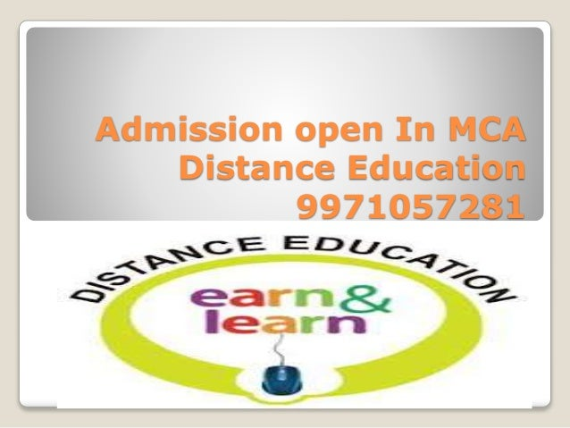 Admission open In MCA Distance Education 9971057281