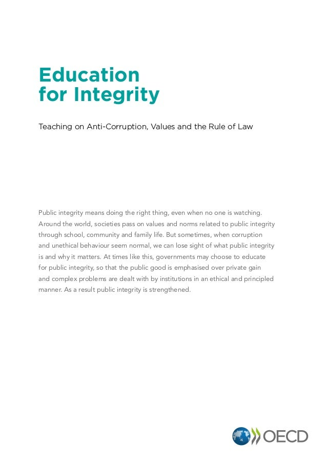Education for Integrity - OECD