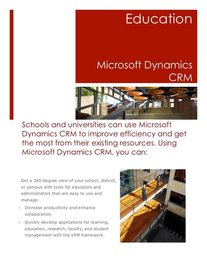 Education                                         Microsoft Dynamics                                                      ...