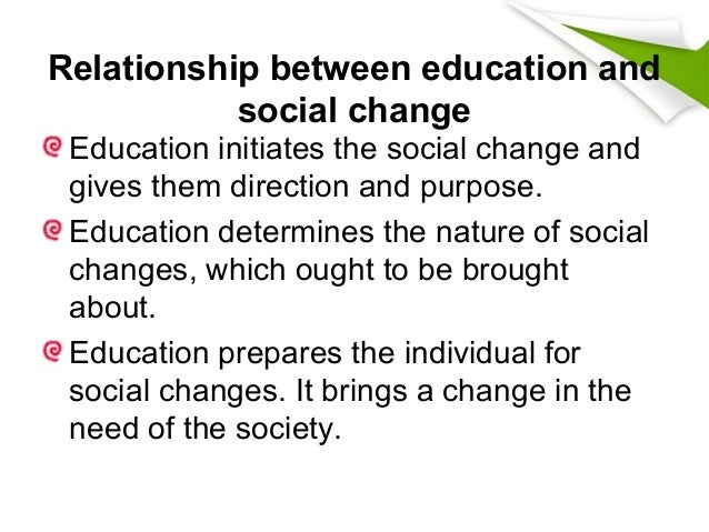 Educational change and development for Relation sociale