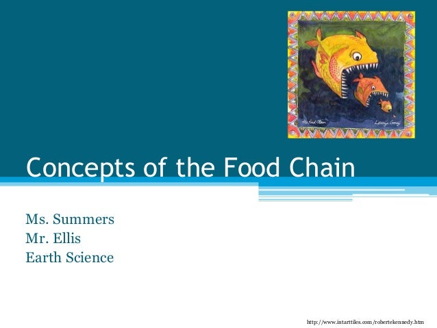Concepts of the Food Chain Ms. Summers Mr. Ellis Earth Science http://www.intarttiles.com/robertekennedy.htm
