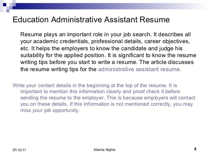 How to Write a Good Objective on a Resume for an Administrative Assistant