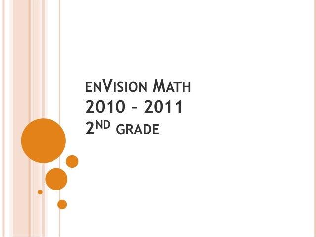ENVISION MATH 2010 – 2011 2ND GRADE
