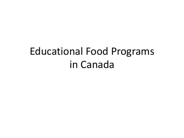 Educational Food Programs in Canada