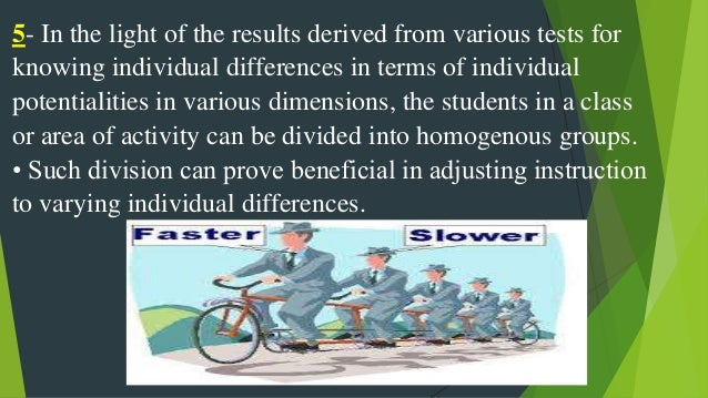 implications of individual differences essay The impact of individual differences on organisational behaviour is becoming  more and more tremendous especially in organisation's.