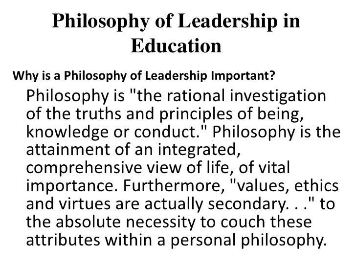 personal leadership philosophy statement - Khafre