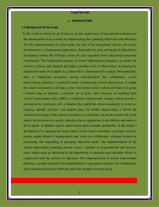 1 CHAPTER ONE 1. INTRODUCTION 1.1 Background of the Study In the world in which we are living we see the significance of e...
