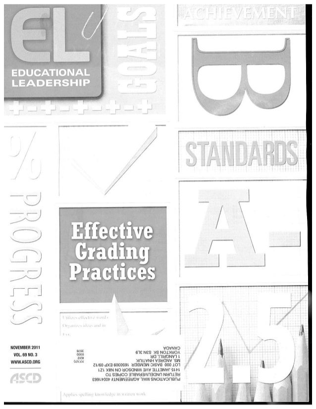 Educational Leadership November 2011 Grading