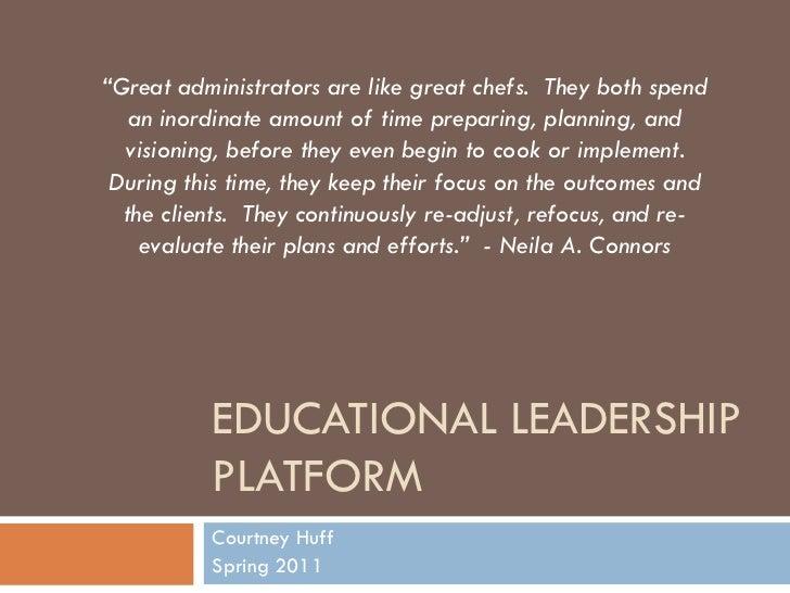 Educational Leadership Platform