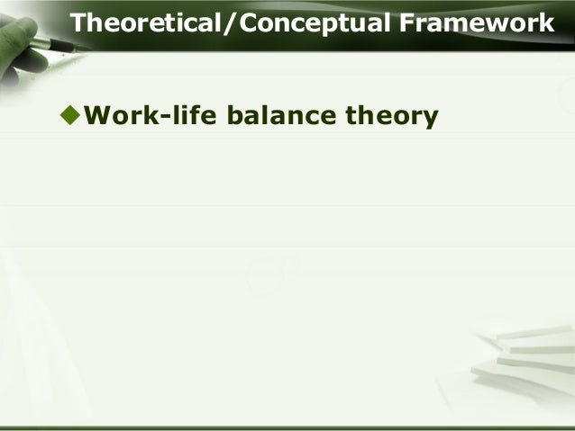 educational managers four life quadrants work life balance theory theoretical conceptual framework